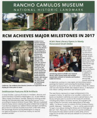 Rancho Camulos Museum Achieves Major Milestones