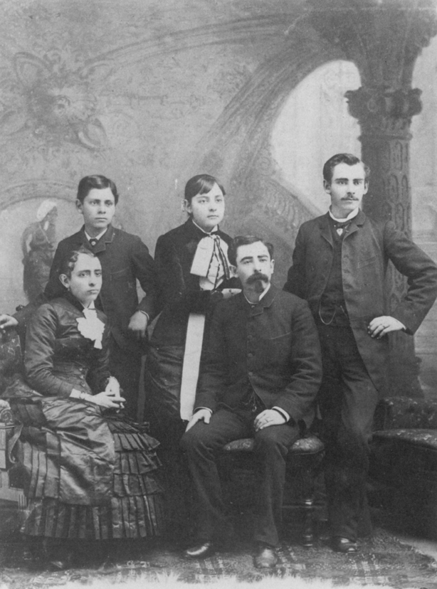 Left to right: Josefa, Ignacio, Jr., Ysabel, Reginaldo and Ulpiano del Valle, c. 1875.