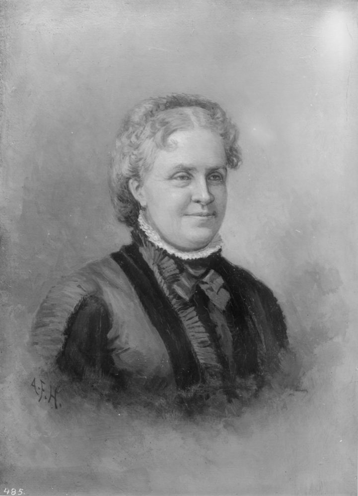 "Portrait, 1885, of 19th-century Indian rights activist Helen Hunt Jackson, author of several books including the 1884 novel, ""Ramona,"" based in part on her impressions of the Del Valle family's Rancho Camulos in the western Santa Clarita Valley. Artist, Alexander Francis ""A.F."" Harmer, who was active in Ventura and Santa Barbara counties and was known for native American subjects and landscapes."